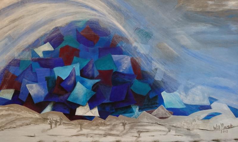 Blauwe lawine
