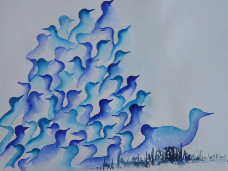Eendjes blauw